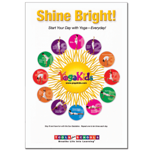YogaKids Tools for Schools Shine Bright Poster