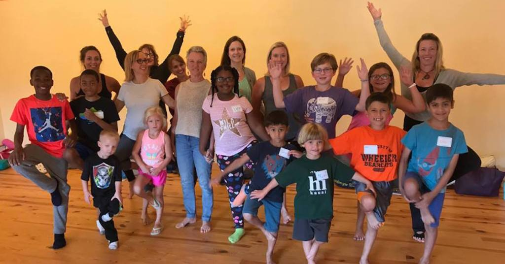 Children and Trainees in a YogaKids Class