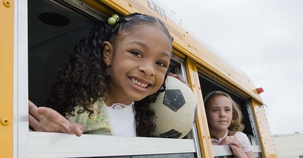 Elementary Students on School Bus
