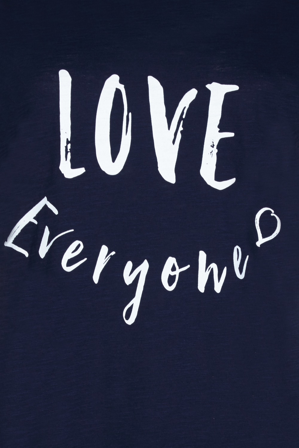 Love Everyone: LOVE EVERYONE - NAVY / WHITE T-SHIRT