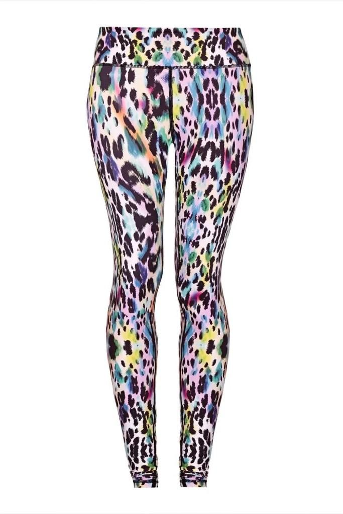 Rainbow Leopard Yoga Leggings