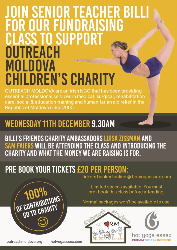 Charity Yoga Class with Billi Mucklow