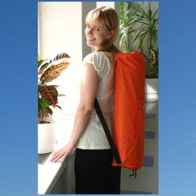Mattoreppu reppukankaasta oranssi Yogalife