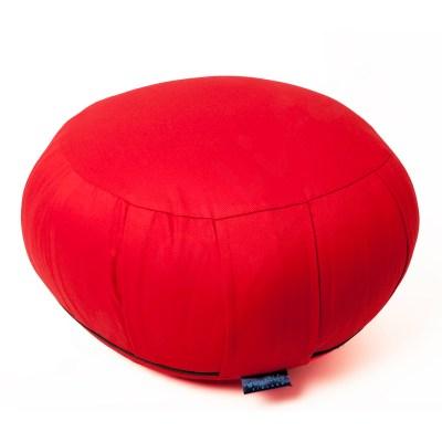 Zafu meditaatiotyyny -KAPOK täyte ja irrotettava päällinen – punainen 1300g