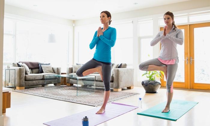 aulas de yoga em grupo