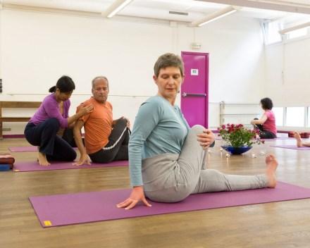 Cours Yoga tout niveaux hatha exercices posture yogamanjali filla brion Paris 20