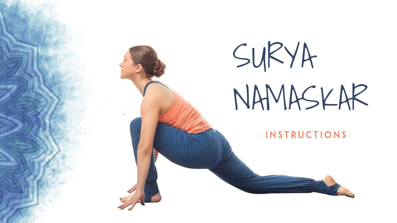 Surya Namaskar Different Poses