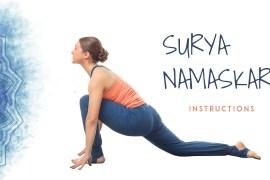 Surya Namaskar Instructions