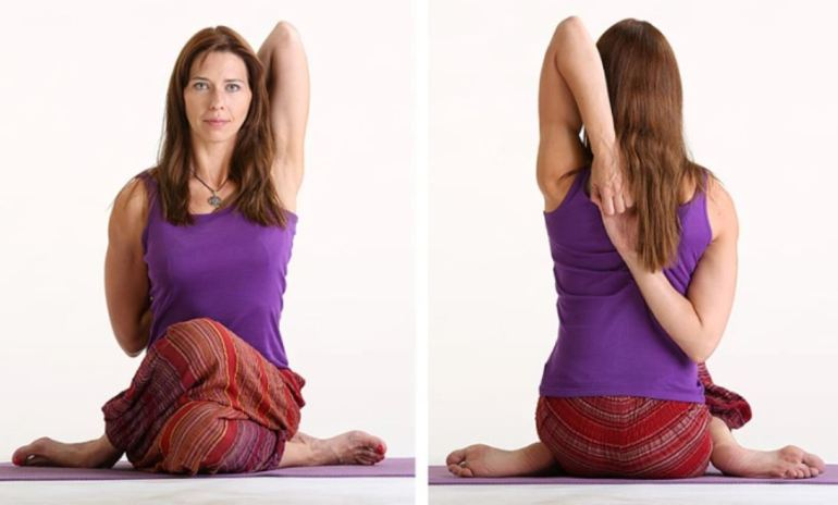 Cow Face Pose - Gomukhasana
