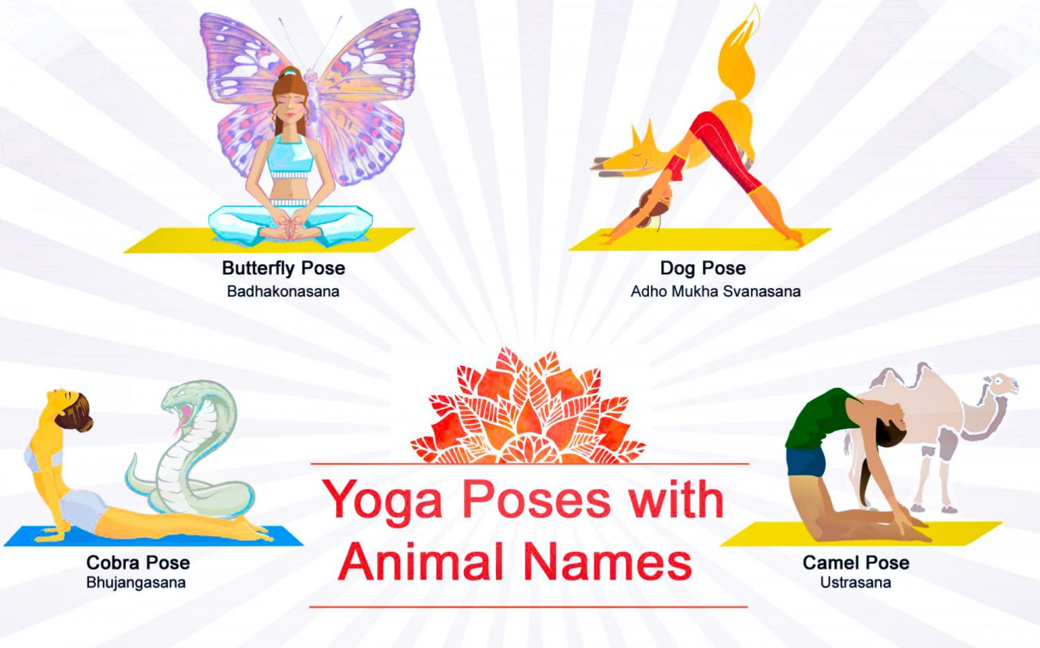 Yoga Poses Named After Animals - Yoga Asanas From Animals