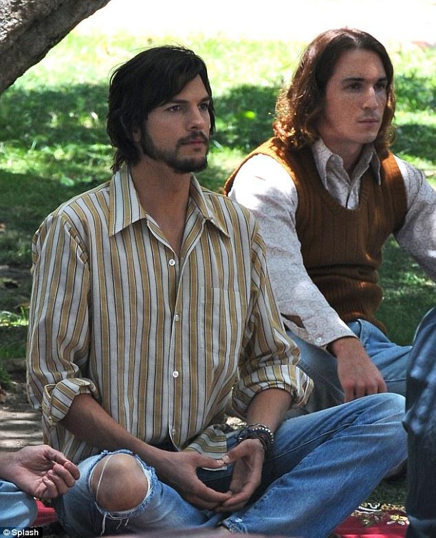 Ashton Kutcher Doing Meditation