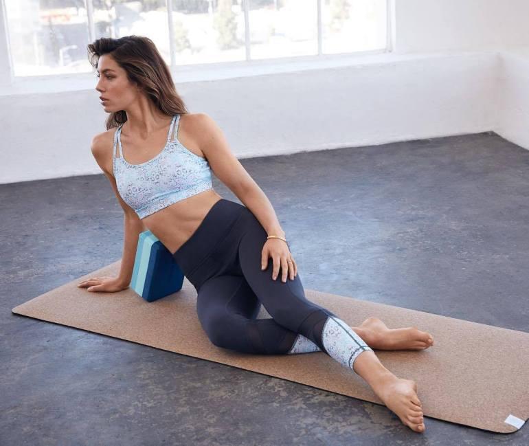Jessica Biel doing yoga