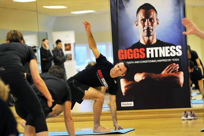Ryan Giggs Doing Yoga