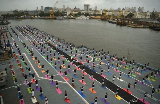Colourful Yoga Mat - Indian Army