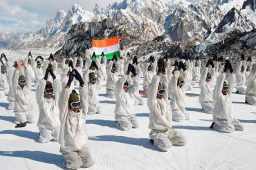 Indian Army Doing Yoga