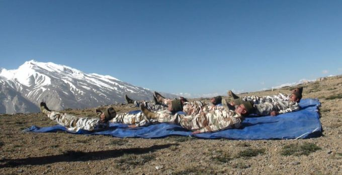 Int'l Yoga Day at Indo-China border