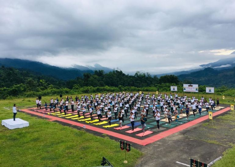 Yoga at India-Myanmar Border
