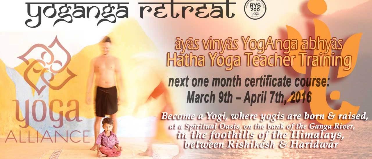 one month Yoga Alliance 200 hour Teacher Training: Spring Session