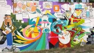 Graffiti-Gleisdreieckpark © Annette Bauer yoga-xperience.de