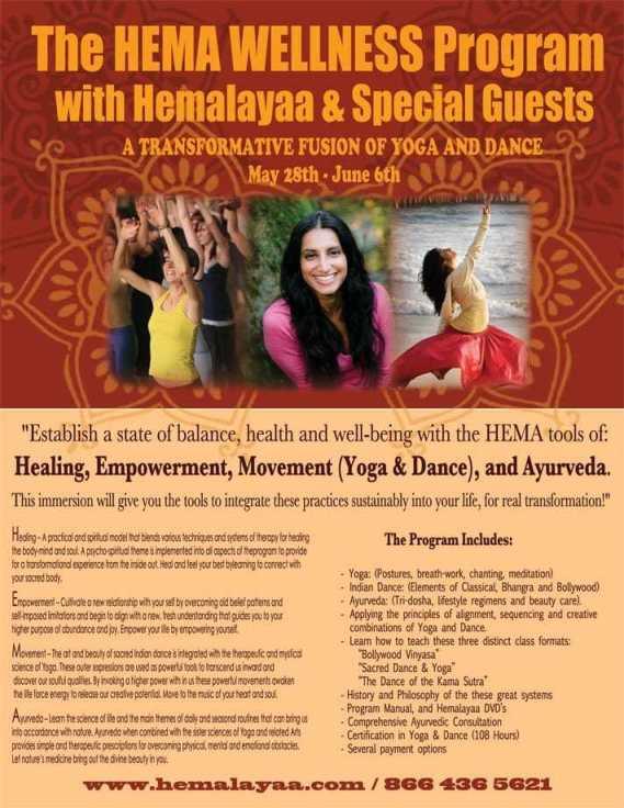 HEMA Wellness Program May 28th - June 6th