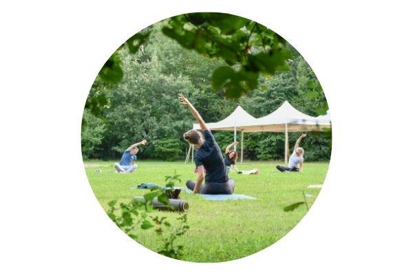 Persoonlijk yoga outdoors