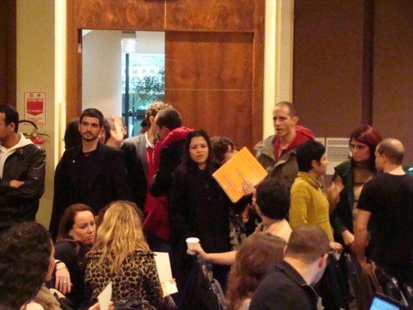 Instrutores chegando ao evento no primeiro dia