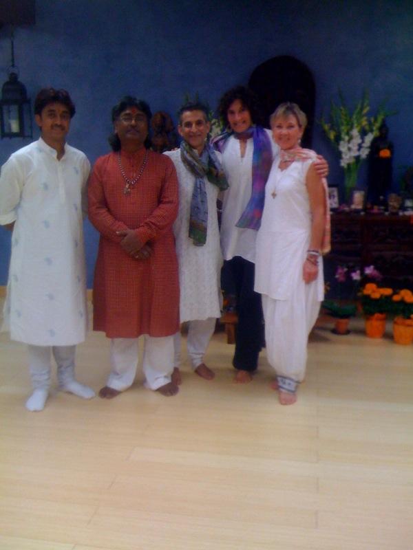 prabhash, panditji, arun, megan, sita