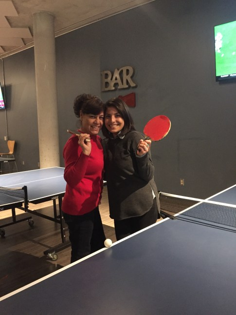 Ping Pong with my mama
