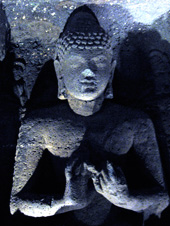 Buddha, Ajanta Cave 26. Photo: Linda G. Swaty, 2011