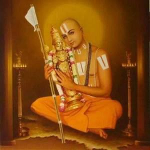 Ramanuja_embracing_Lord_Varadaraj