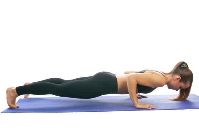 Yoga seria: Chaturanga Dandasana , is also called  Four-Limbed Staff Pose is an asana.