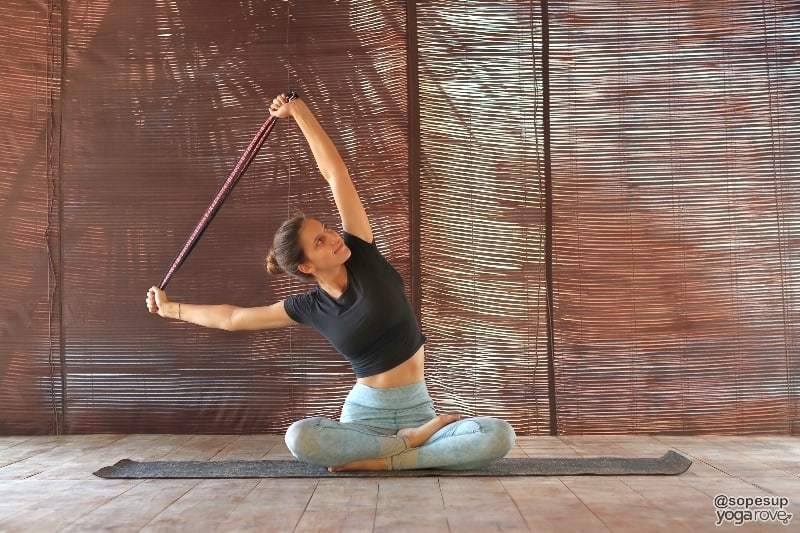 Yoga with a strap