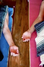 brochure hands