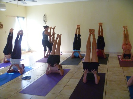 Shoulder stand in Ashtanga Yoga with Aura Reverol at Yoga Utila