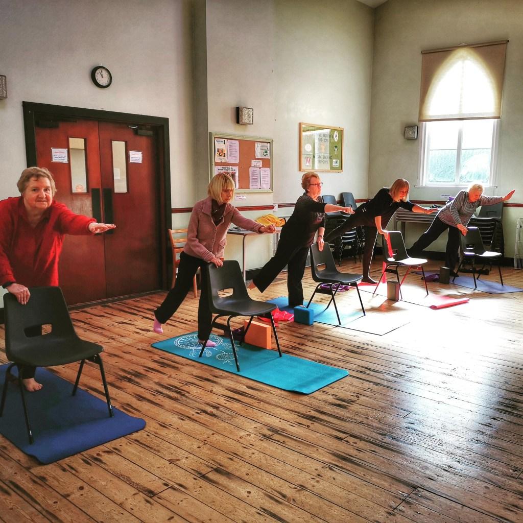 Watton chair yoga 3