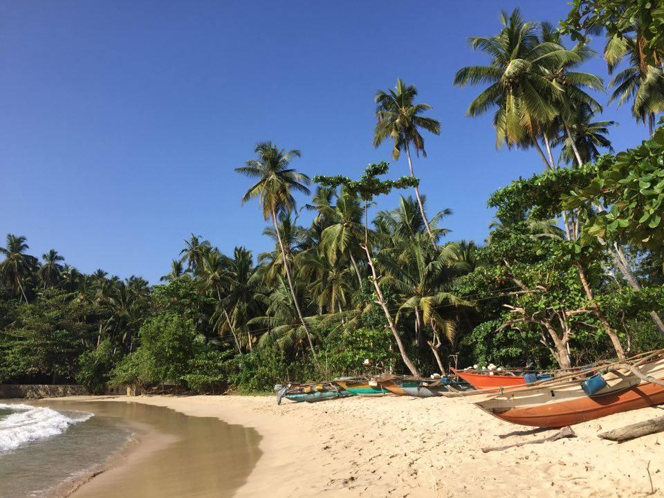 Beaches on the south coast in Sri Lanka