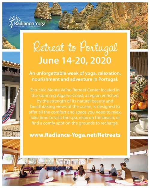 Yoga Retreat to Portugal June 14-20, 2020 with Yoga with Angelina Fox