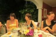 Enjoying dinner, last night