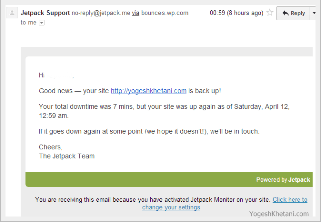 JetPack Site Monitor