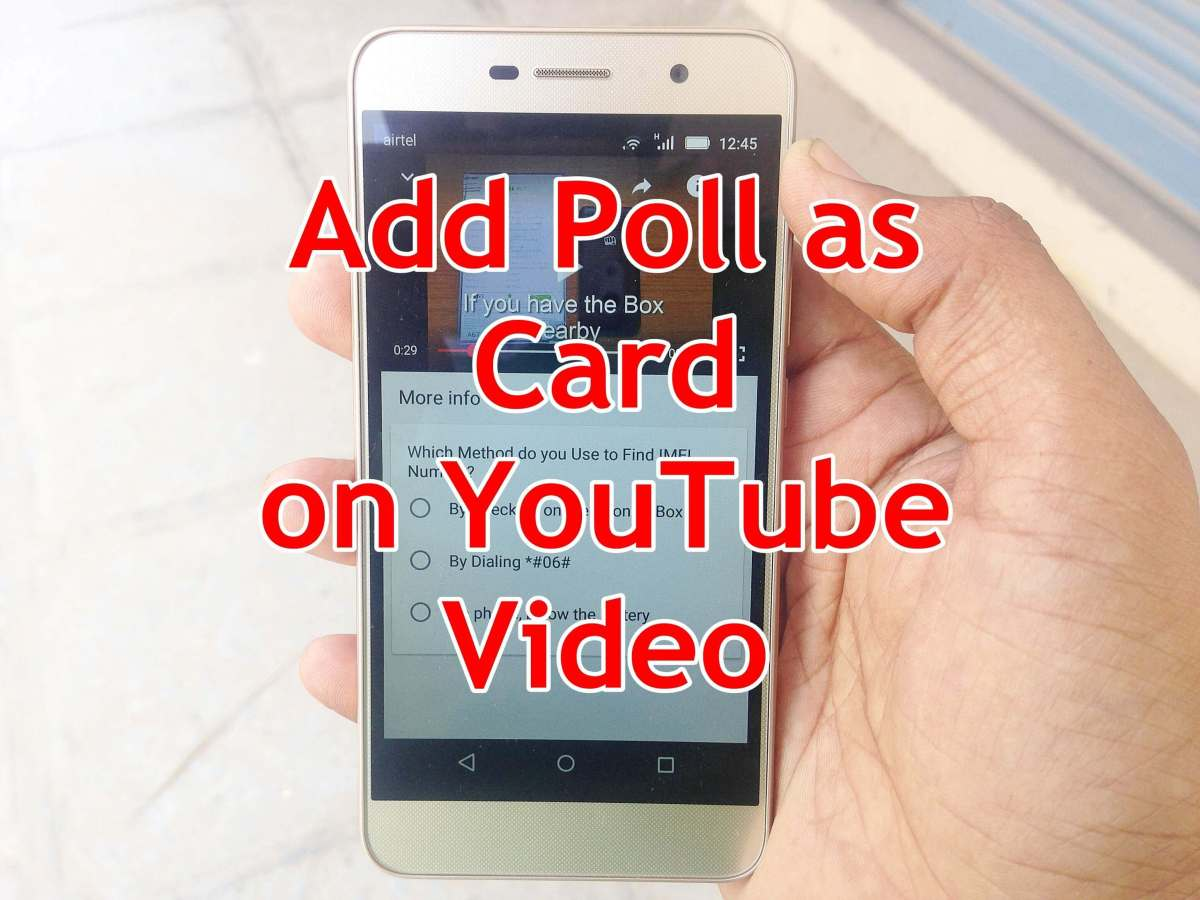 How to Create Poll on YouTube Video - YouTube Poll Cards