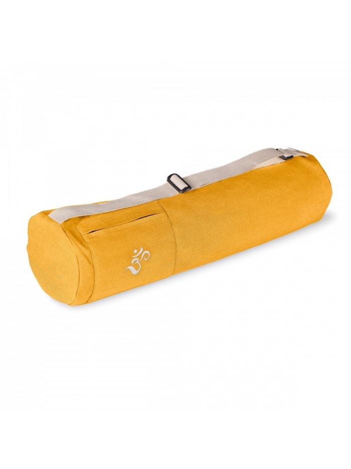 sac a tapis yoga en coton bio lotuscraft mysore jaune
