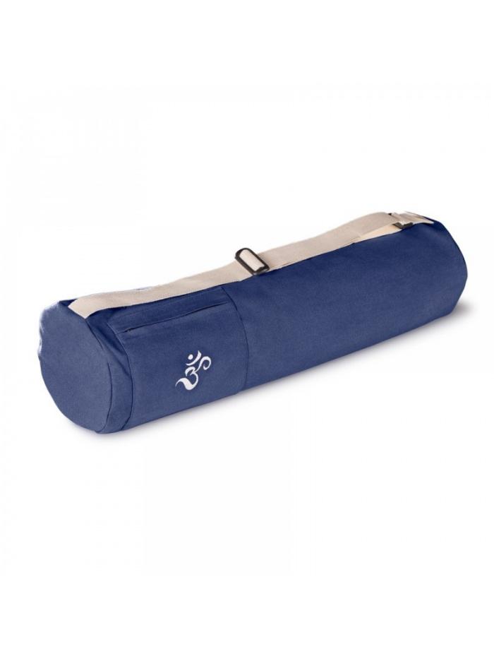 sac a tapis yoga en coton bio lotuscraft mysore bleu royal