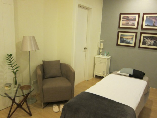 One of the larger rooms that came with its own restroom, an armchair...