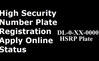 Delhi High Security Number Plate Registration