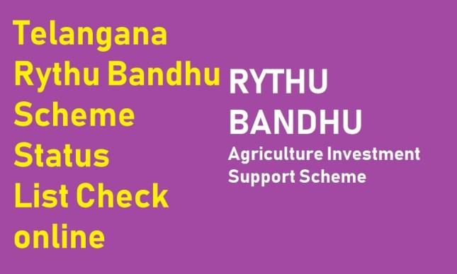 Rythu Bandhu Status