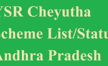 YSR Cheyutha Final List 2020