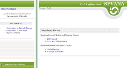 kerala marriage certificate form download