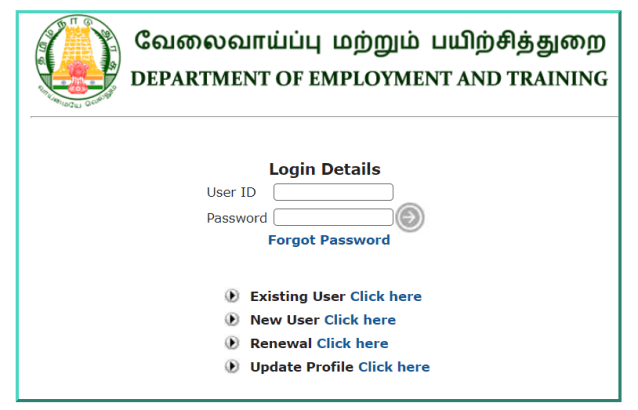 How to renew lapsed employment registration in Tamil Nadu