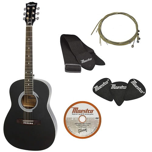 Maestro by Gibson MA38EBCH1 Parlor Size Acoustic Guitar Starter Pack