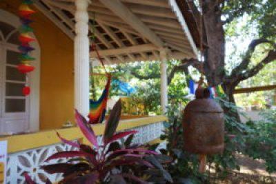 Garden of Yog Temple in Siolim